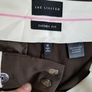 The Limited Pants - The Limited Cassidy Fit dark brown pants, size 10